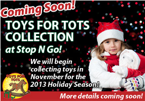 SNG will be collecting toys again this Holiday Season for Toys for Tots!